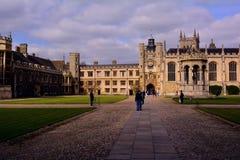 Cambridge university yard,  UK Royalty Free Stock Photography