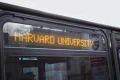 Cambridge uniwersyteta harwarda autobus Obraz Royalty Free