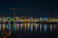 Cambrills Landscape at night. Landscape of Cambrills from the port Stock Photography