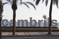 Cambrils miasta plakieta Fotografia Royalty Free