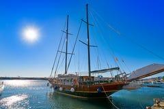Cambrils port w Tarragona Catalonia zdjęcia stock