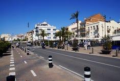 Cambrils stad, Spanien Arkivbilder