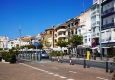 Cambrils stad, Spanien Royaltyfri Fotografi