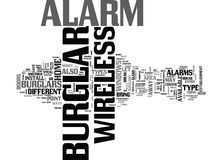Cambrioleur sans fil Alarm Word Cloud illustration de vecteur