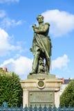Cambronne将军雕象在南特 免版税库存照片
