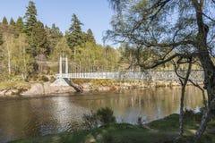 Cambus O` May Suspension bridge. Cambus O` May Suspension bridge on the River Dee in Scotland royalty free stock photography