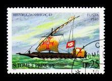 Cambusa Fusta (1540), serie delle navi di navigazione, circa 1979 Fotografia Stock