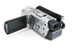 Camcorder που απομονώνεται μίνι στο λευκό Στοκ εικόνα με δικαίωμα ελεύθερης χρήσης