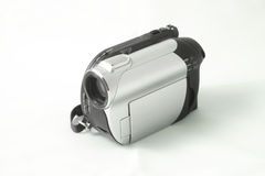 Camcorder. A digital camcorder in a white background Stock Image