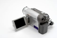 Camcorder. With open LCD Royalty Free Stock Photography