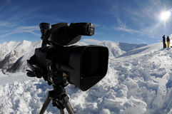 Camcorder in bright sun Royalty Free Stock Image