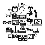 Camcorder buying icons set, simple style. Camcorder buying icons set. Simple set of 25 camcorder buying vector icons for web isolated on white background Royalty Free Stock Photos