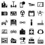 Camcorder buying icons set, simple style. Camcorder buying icons set. Simple set of 25 camcorder buying vector icons for web isolated on white background Royalty Free Stock Image