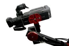 Camcorder on crane Royalty Free Stock Photo