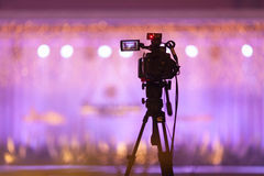 Camcorder at Fashion show Wedding fair out of focus,blur backgro. Und Royalty Free Stock Images