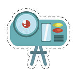 Camcorder film movie device icon cut line. Illustration eps 10 Royalty Free Stock Images