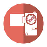 Camcorder film video travel device shadow. Vector illustration eps 10 Stock Image
