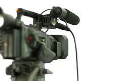 Camcorder isolated. Camcorder back isolated on white Stock Image