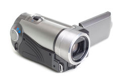 Camcorder isolated on white Stock Image