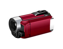 Camcorder isolated on white Royalty Free Stock Images
