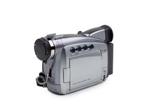 Camcorder isolated on white. Palm Camcorder isolated on white with clipping path Stock Photo