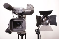 Camcorder and light Stock Photo