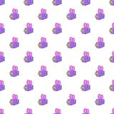 Camcorder pattern, cartoon style. Camcorder pattern. Cartoon illustration of camcorder vector pattern for web Stock Image