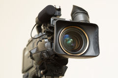 Camcorder. Professional television camera ready to broadcasting Royalty Free Stock Image