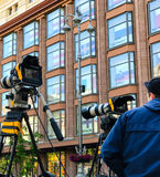 Camcorder Professional video equipment Royalty Free Stock Image