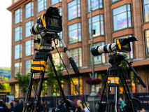 Camcorder Professional video equipment Stock Images