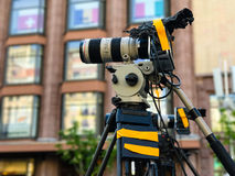 Camcorder Professional video equipment Royalty Free Stock Photos
