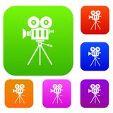 Camcorder set collection. Camcorder set icon in different colors isolated vector illustration. Premium collection Stock Image