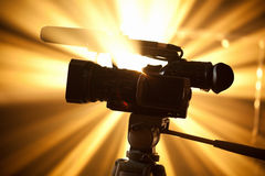 Camcorder silhouette Royalty Free Stock Image