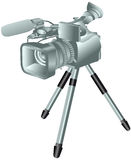 Camcorder on a tripod Stock Images