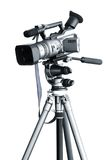 Camcorder on a tripod. Professional Camcorder on a tripod royalty free stock photos