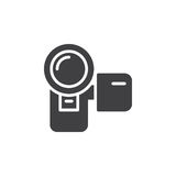 Camcorder, video digital camera icon vector, filled flat sign Royalty Free Stock Photos