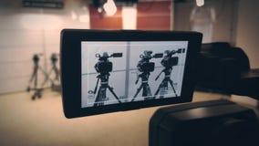 Camcorders in de studio4k Video stock footage