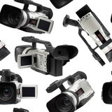 Camcorders seamless wallpaper Stock Photos