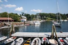 Camden Harbor Fotos de archivo libres de regalías