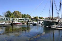 Camden Harbor i Maine Arkivbild