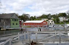 Camden Harbor Stock Photo