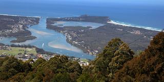 Camden Head and Laurieton from North Brother mountain Stock Photography