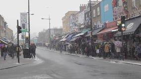 Camden High Street Winter almacen de video