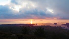 Camden Hills State Park Sunrise Stock Photography