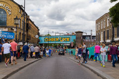 Camden kędziorek w Londyn na weekendzie Obrazy Royalty Free