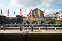 Camden Lock area in summer, London Stock Images