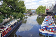 Camden Lock. The beautiful Camden Lock in London with riverside shops, restaurants and cafes Royalty Free Stock Image