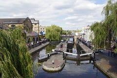Camden Lock. The beautiful water ways at Camden Lock in London Royalty Free Stock Photos