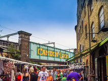 Camden Lock Bridge. A famous alternative culture shops Stock Image
