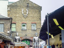 Camden Lock Bridge. A famous alternative culture shops Stock Photos